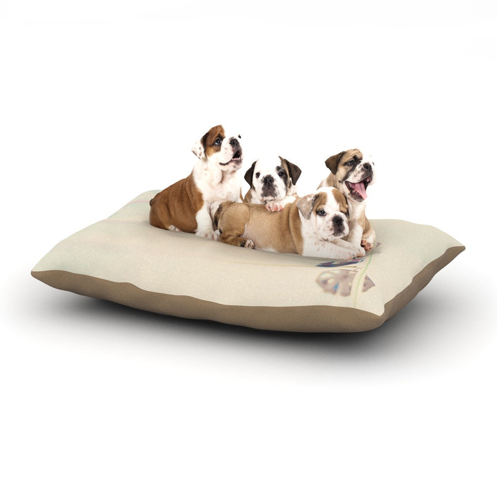 "Laura Evans ""It's All A Blur"" Ferris Wheel Dog Bed - KESS InHouse  - 1"