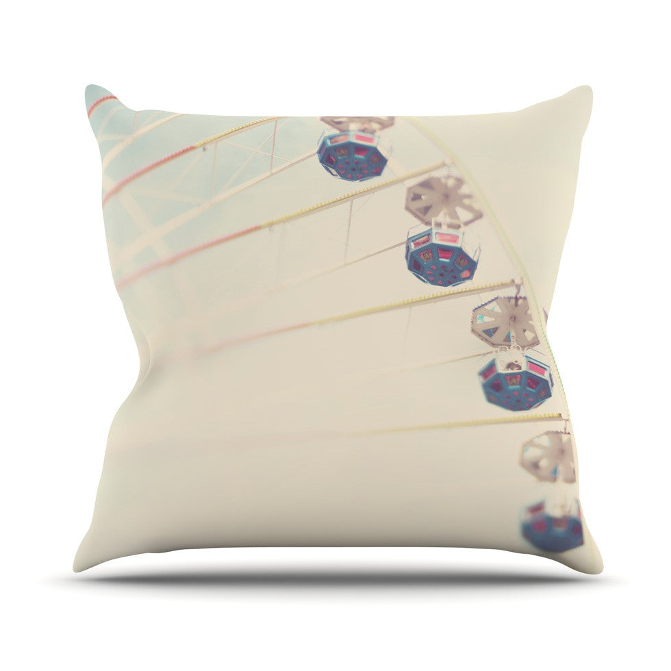 "Laura Evans ""It's All A Blur"" Ferris Wheel Outdoor Throw Pillow - KESS InHouse  - 1"