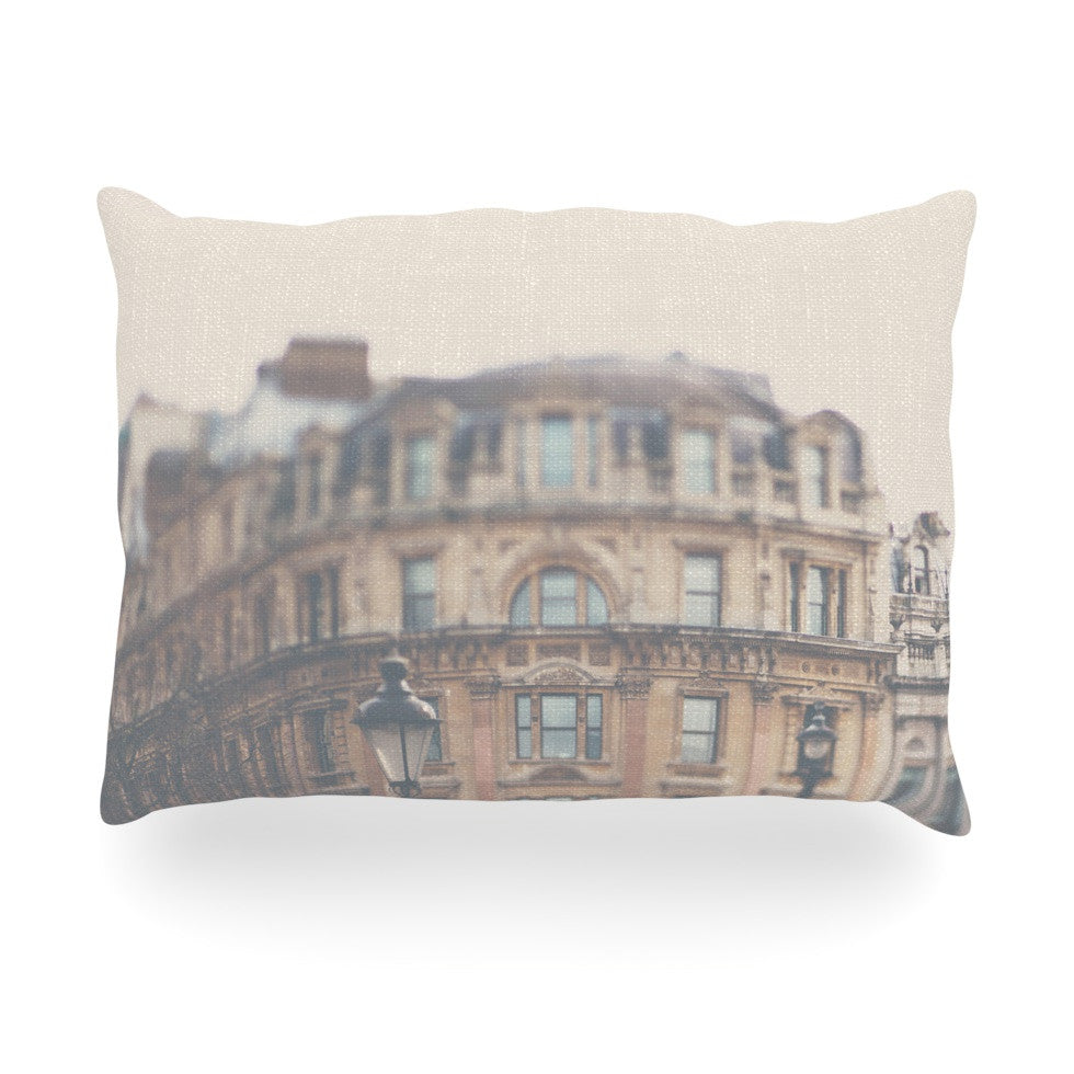"Laura Evans ""London Town"" Brown Oblong Pillow - KESS InHouse"