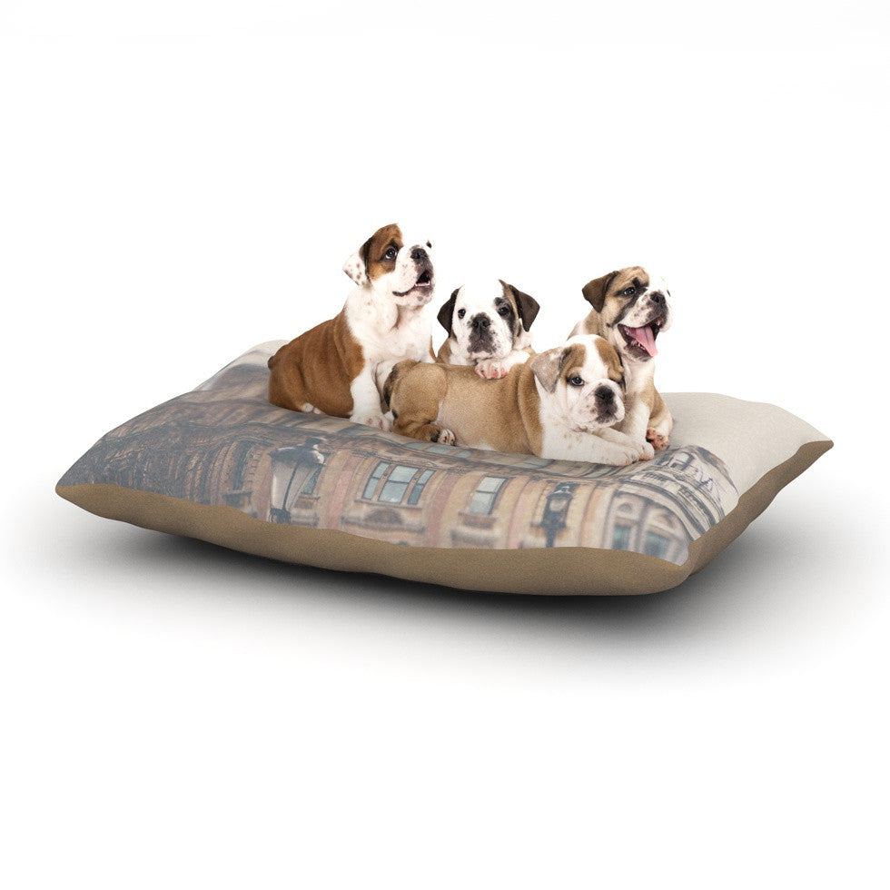 "Laura Evans ""London Town"" Brown Dog Bed - KESS InHouse  - 1"