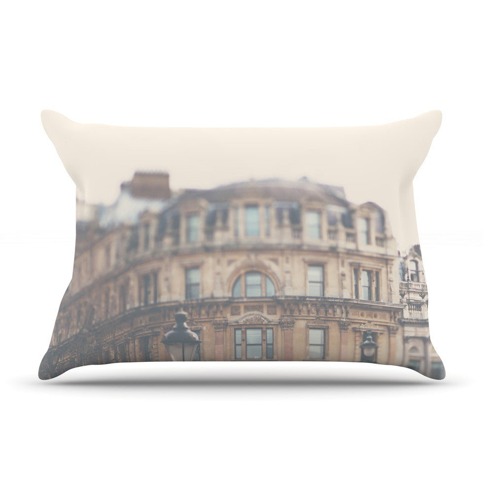 "Laura Evans ""London Town"" Brown Pillow Sham - KESS InHouse"