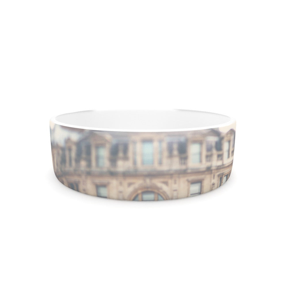 "Laura Evans ""London Town"" Brown Pet Bowl - KESS InHouse"