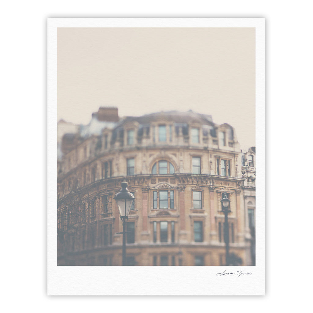 "Laura Evans ""London Town"" Brown Fine Art Gallery Print - KESS InHouse"