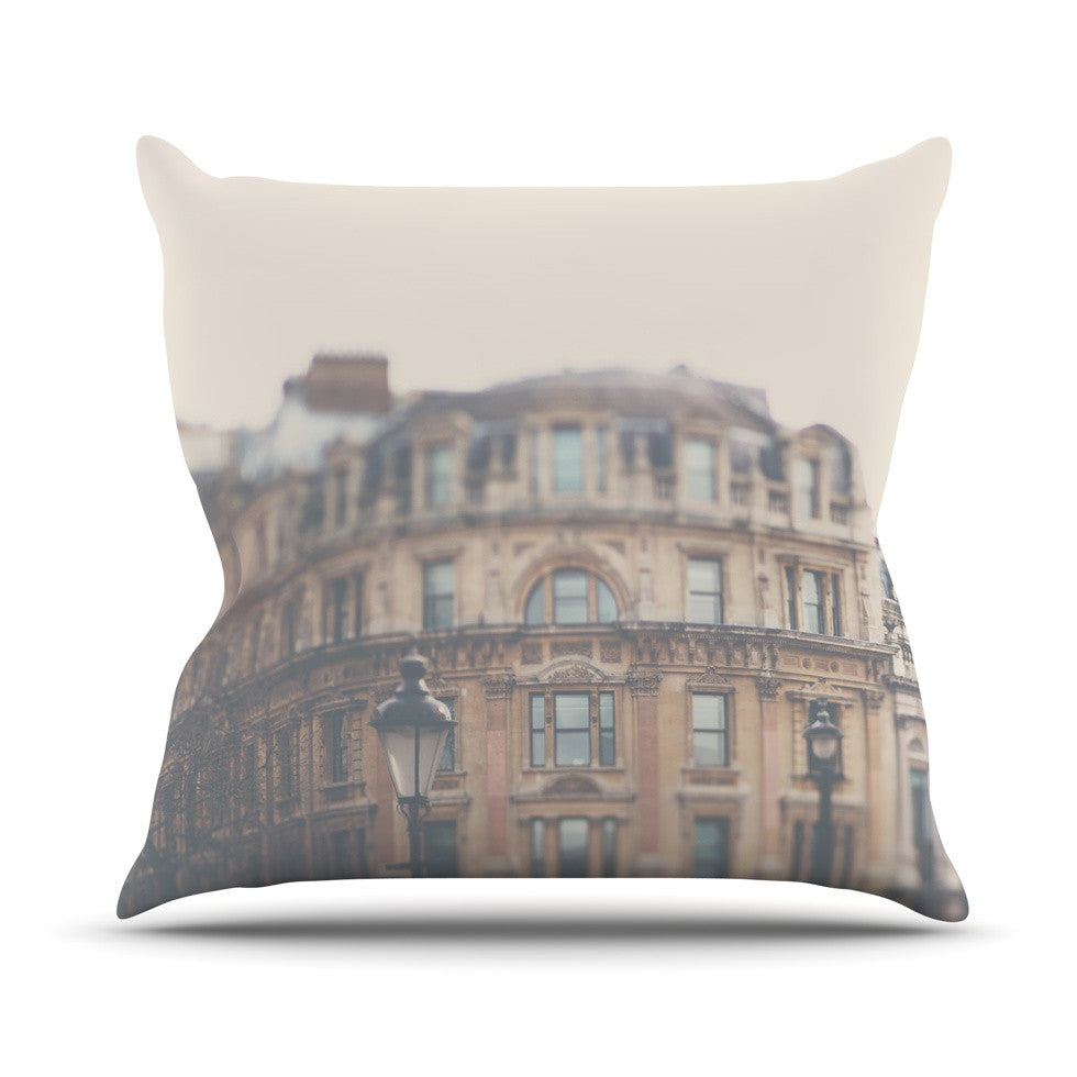 "Laura Evans ""London Town"" Brown Throw Pillow - KESS InHouse  - 1"