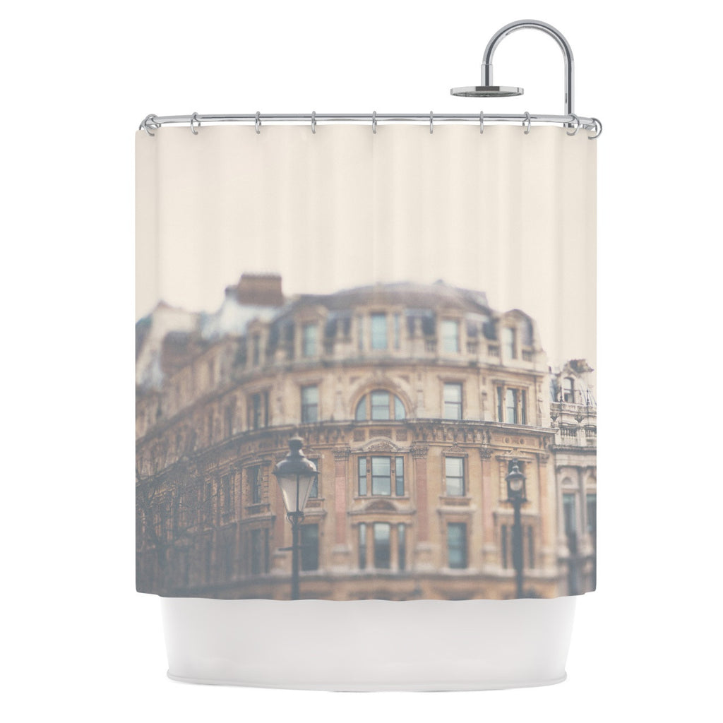 "Laura Evans ""London Town"" Brown Shower Curtain - KESS InHouse"