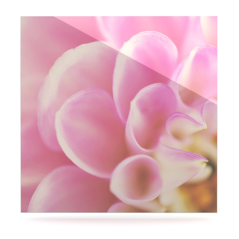 "Laura Evans ""Up Close & Personal"" Pink Floral Luxe Square Panel - KESS InHouse  - 1"