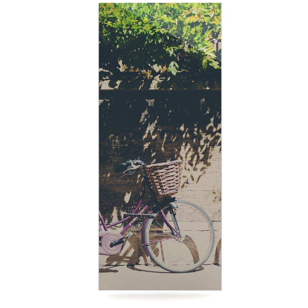 "Laura Evans ""Pretty Bicycles"" Brown Green Luxe Rectangle Panel - KESS InHouse  - 1"