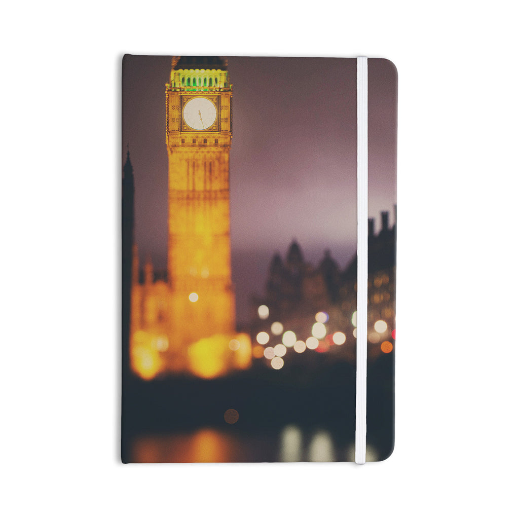 "Laura Evans ""Westminster at Night"" Yellow Multicolor Everything Notebook - KESS InHouse  - 1"