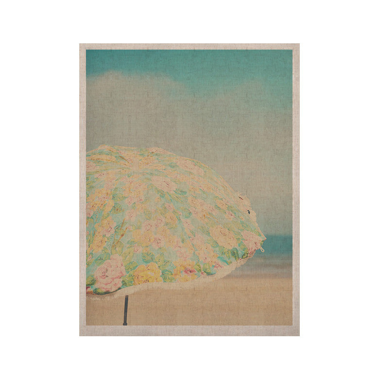 "Laura Evans ""A Summer Afternoon"" Blue Teal KESS Naturals Canvas (Frame not Included) - KESS InHouse  - 1"
