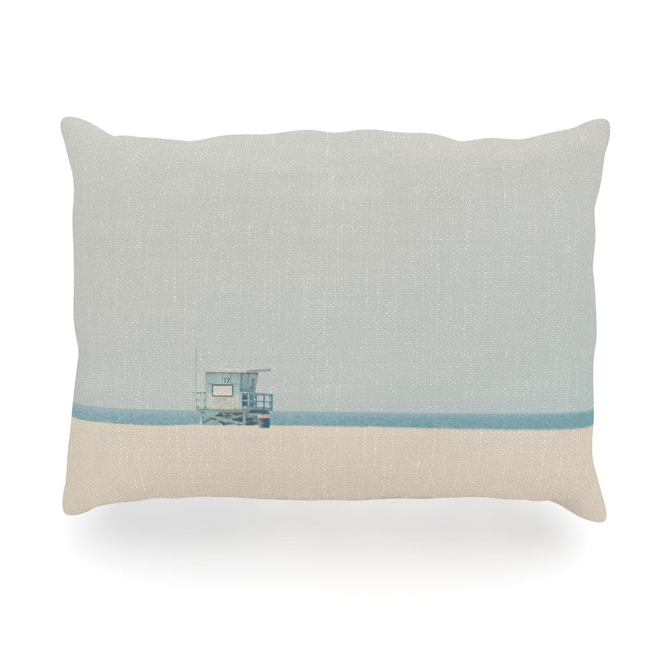 "Laura Evans ""Tower 17"" Coastal Oblong Pillow - KESS InHouse"