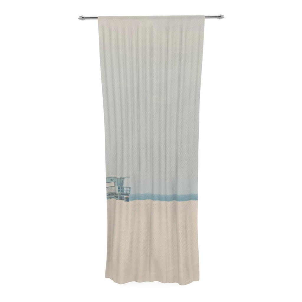 "Laura Evans ""Tower 17"" Coastal Decorative Sheer Curtain - KESS InHouse  - 1"