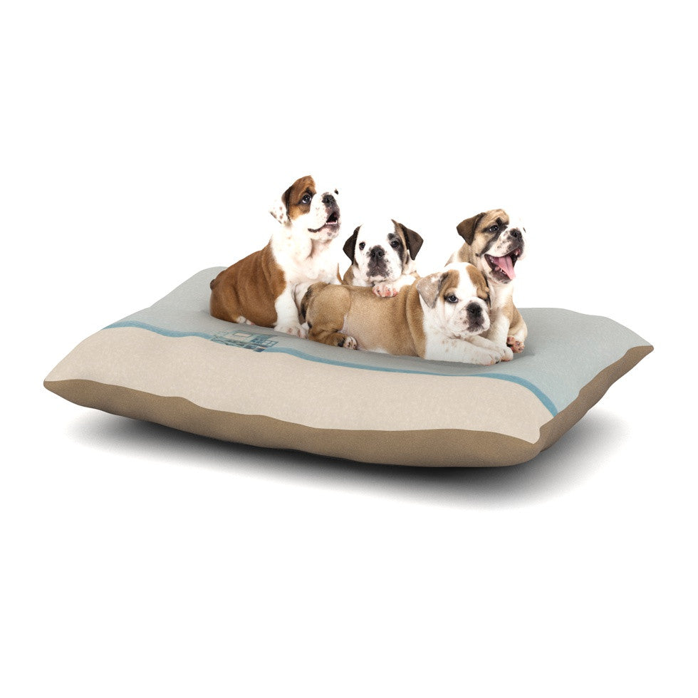 "Laura Evans ""Tower 17"" Coastal Dog Bed - KESS InHouse  - 1"