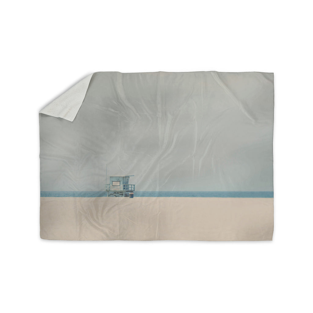 "Laura Evans ""Tower 17"" Coastal Sherpa Blanket - KESS InHouse  - 1"