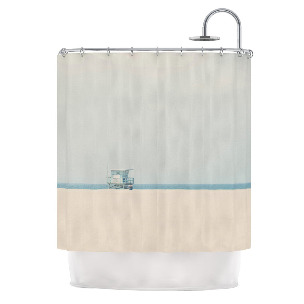 "Laura Evans ""Tower 17"" Coastal Shower Curtain - KESS InHouse"