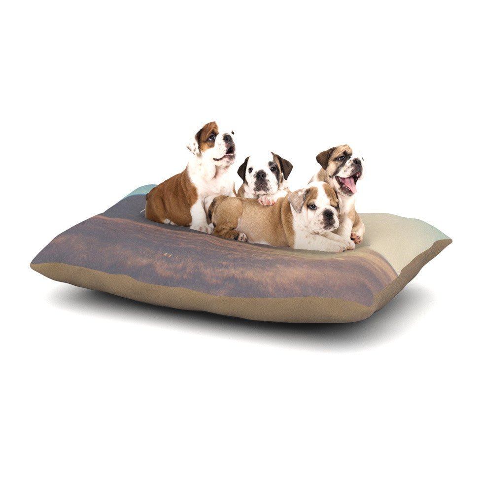 "Laura Evans ""Adventure Awaits You"" Coastal Typography Dog Bed - KESS InHouse  - 1"