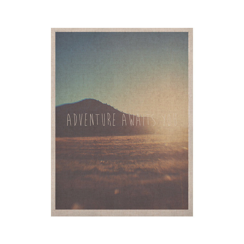 "Laura Evans ""Adventure Awaits You"" Coastal Typography KESS Naturals Canvas (Frame not Included) - KESS InHouse  - 1"