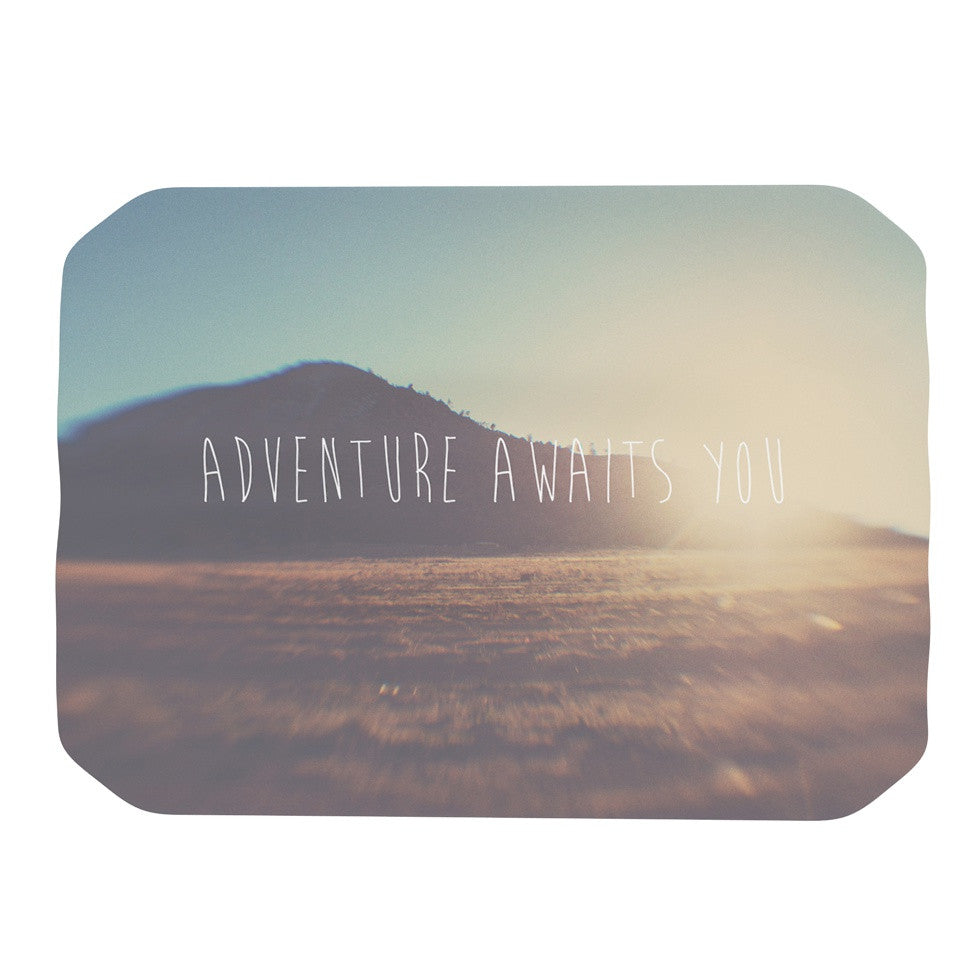 "Laura Evans ""Adventure Awaits You"" Coastal Typography Place Mat - KESS InHouse"