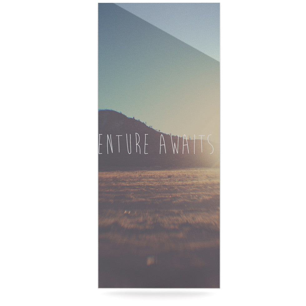 "Laura Evans ""Adventure Awaits You"" Coastal Typography Luxe Rectangle Panel - KESS InHouse  - 1"