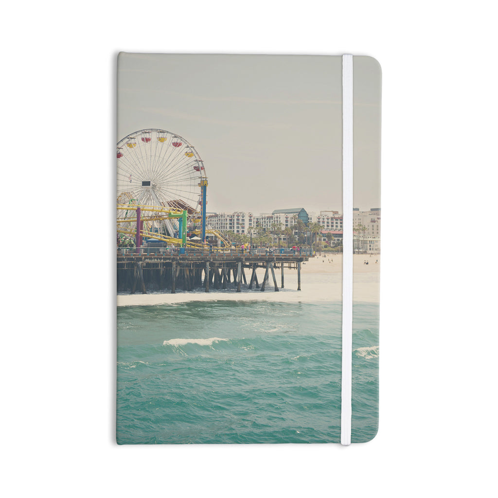 "Laura Evans ""The Pier at Santa Monica"" Coastal Teal Everything Notebook - KESS InHouse  - 1"