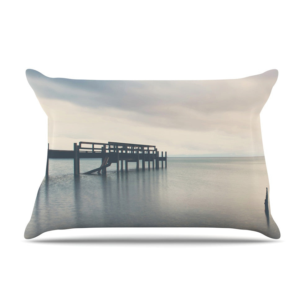 "Laura Evans ""Waiting for the Storm to Pass"" Gray Blue Pillow Sham - KESS InHouse"