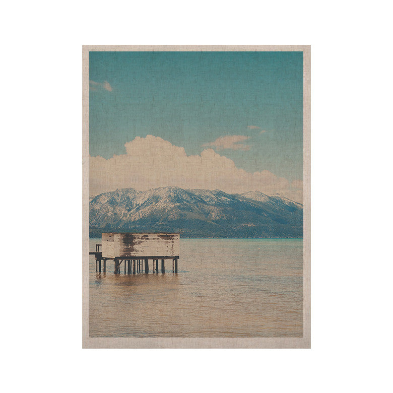 "Laura Evans ""Down By The Lake"" Blue Brown KESS Naturals Canvas (Frame not Included) - KESS InHouse  - 1"