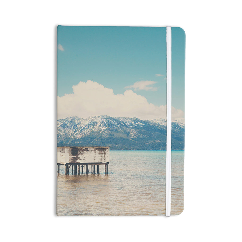 "Laura Evans ""Down By The Lake"" Blue Brown Everything Notebook - KESS InHouse  - 1"