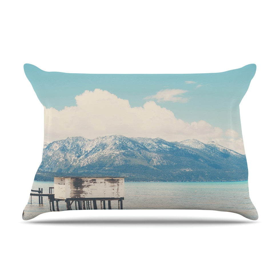 "Laura Evans ""Down By The Lake"" Blue Brown Pillow Sham - KESS InHouse"