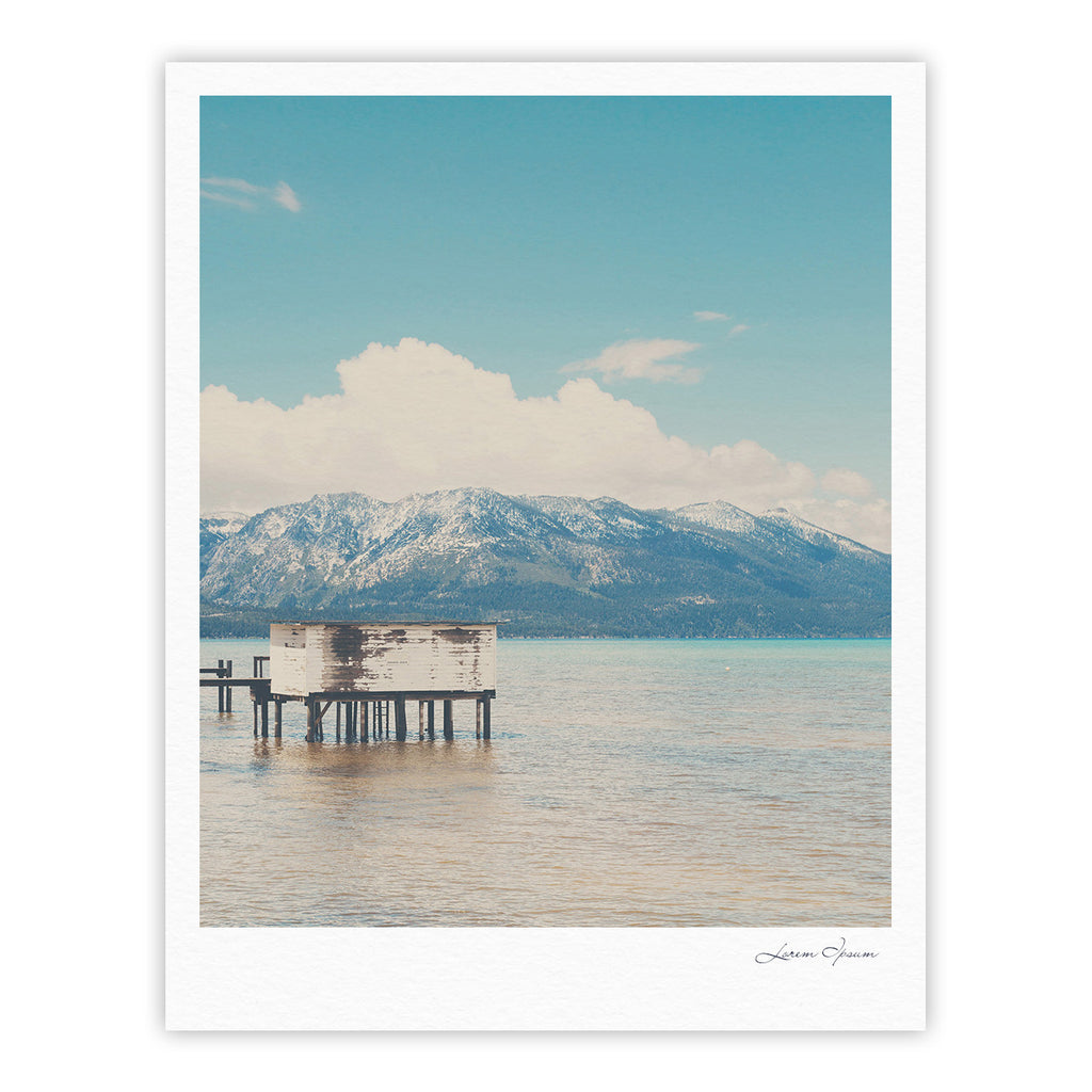 "Laura Evans ""Down By The Lake"" Blue Brown Fine Art Gallery Print - KESS InHouse"