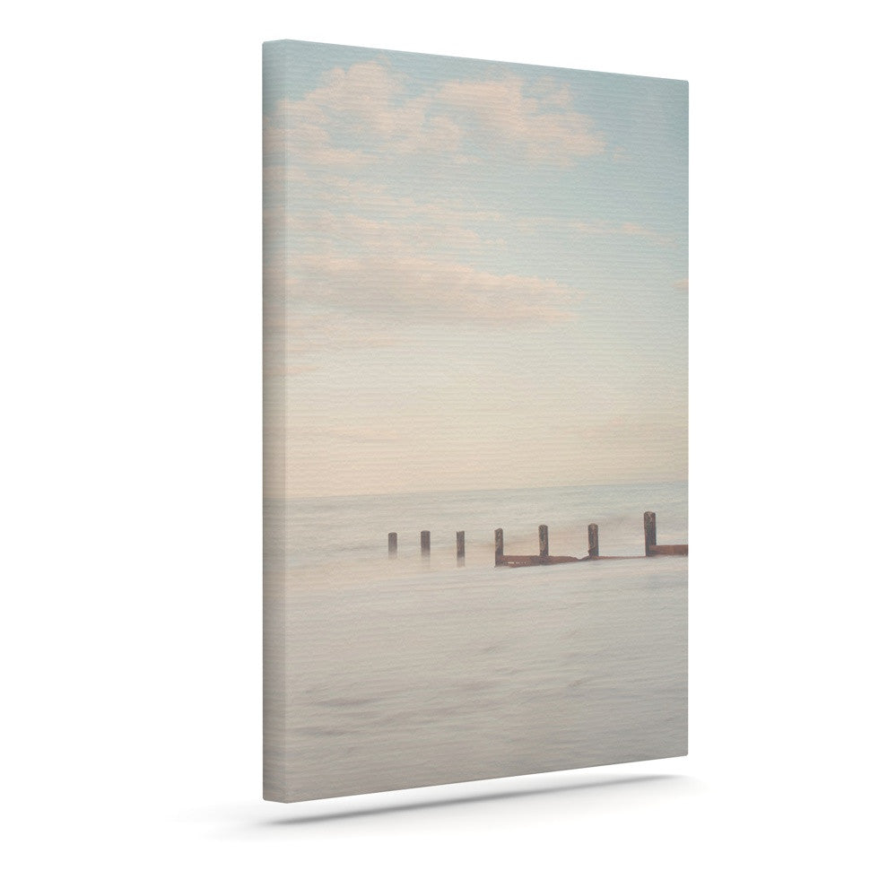 "Laura Evans ""The Rising Tide"" Brown Gray Canvas Art - KESS InHouse  - 1"