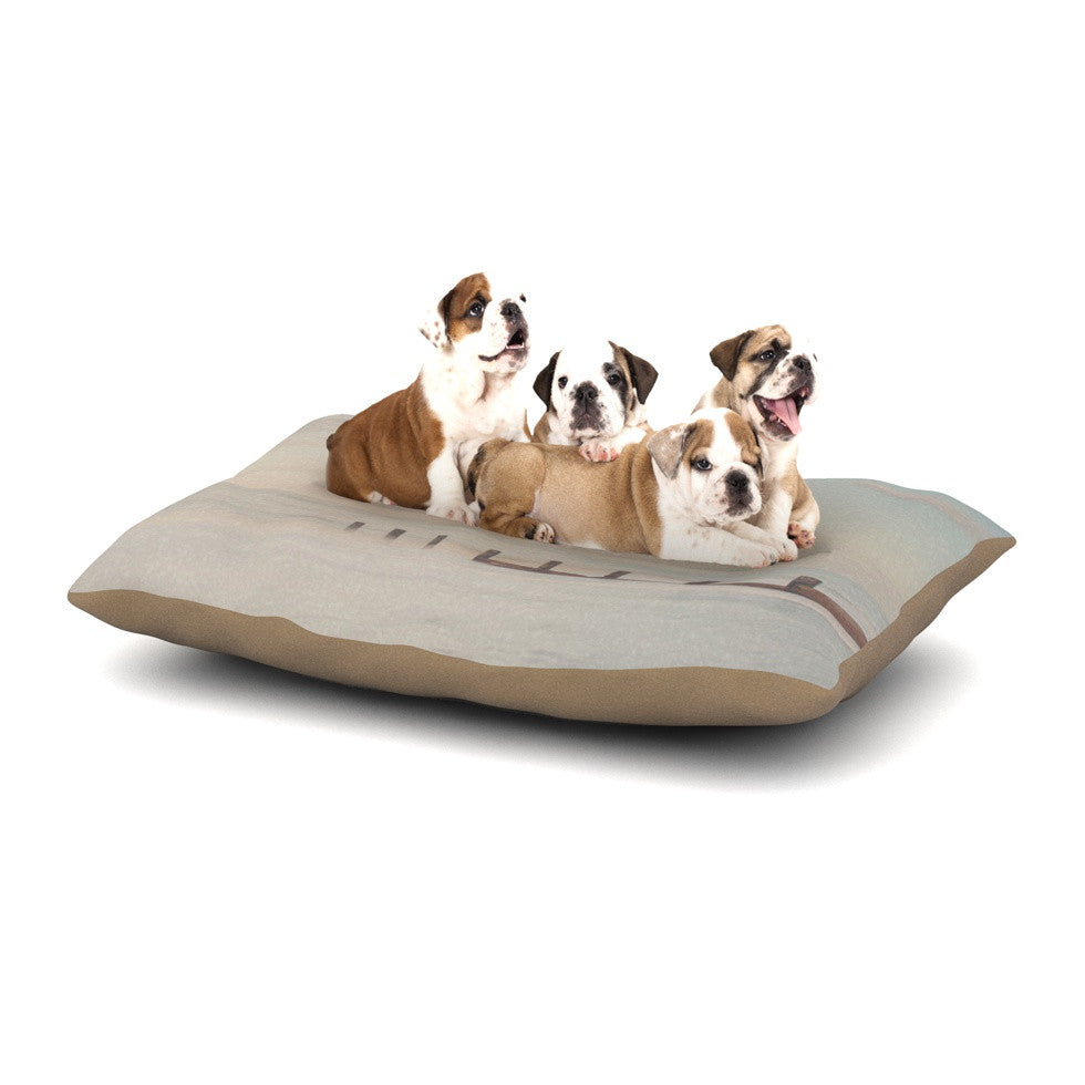 "Laura Evans ""The Rising Tide"" Brown Gray Dog Bed - KESS InHouse  - 1"