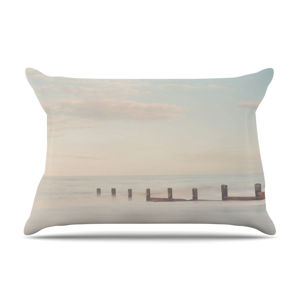 "Laura Evans ""The Rising Tide"" Brown Gray Pillow Sham - KESS InHouse"