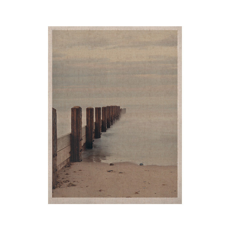 "Laura Evans ""Brush Strokes"" Brown Gray KESS Naturals Canvas (Frame not Included) - KESS InHouse  - 1"