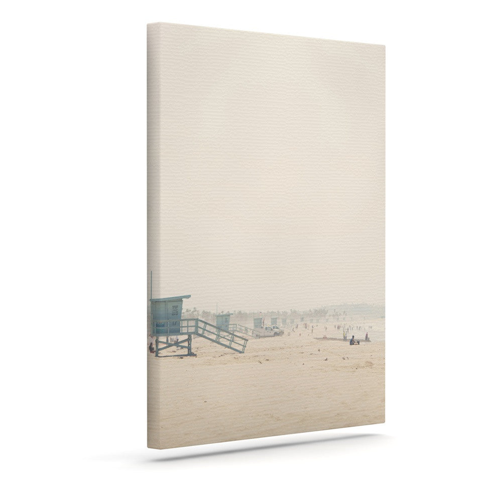 "Laura Evans ""Summer Haze"" Coastal Brown Canvas Art - KESS InHouse  - 1"