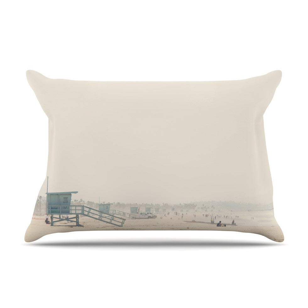 "Laura Evans ""Summer Haze"" Coastal Brown Pillow Sham - KESS InHouse"