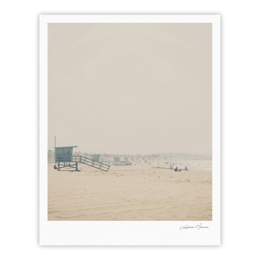 "Laura Evans ""Summer Haze"" Coastal Brown Fine Art Gallery Print - KESS InHouse"