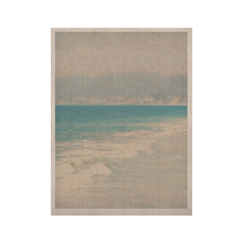 "Laura Evans ""Waves"" Blue Gray KESS Naturals Canvas (Frame not Included) - KESS InHouse  - 1"