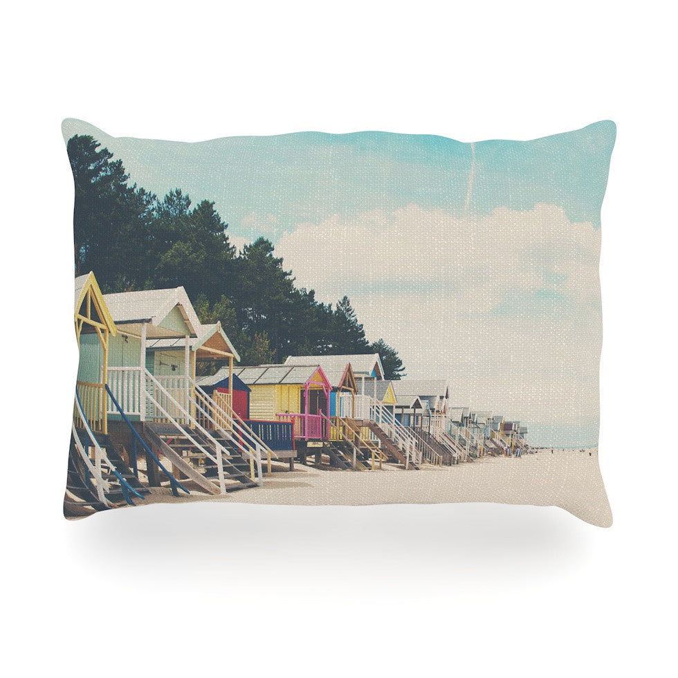 "Laura Evans ""Small Spaces"" Beach Coastal Oblong Pillow - KESS InHouse"