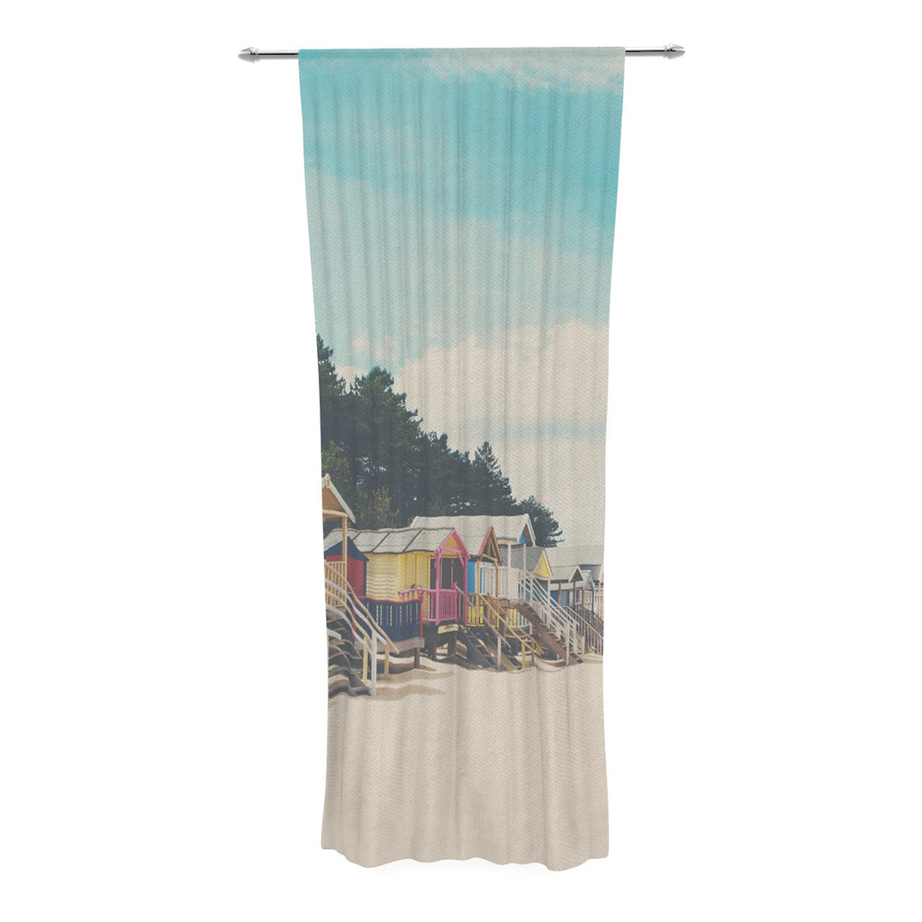 "Laura Evans ""Small Spaces"" Beach Coastal Decorative Sheer Curtain - KESS InHouse  - 1"