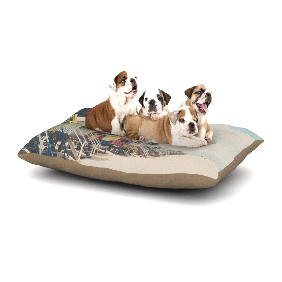 "Laura Evans ""Small Spaces"" Beach Coastal Dog Bed - KESS InHouse  - 1"