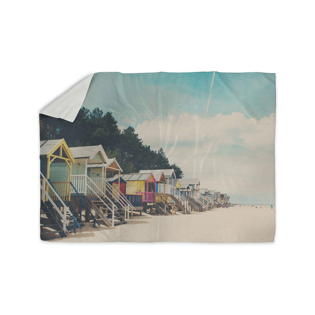 "Laura Evans ""Small Spaces"" Beach Coastal Sherpa Blanket - KESS InHouse  - 1"