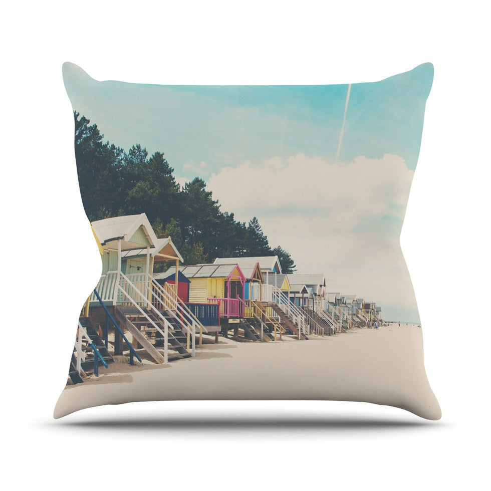 "Laura Evans ""Small Spaces"" Beach Coastal Outdoor Throw Pillow - KESS InHouse  - 1"