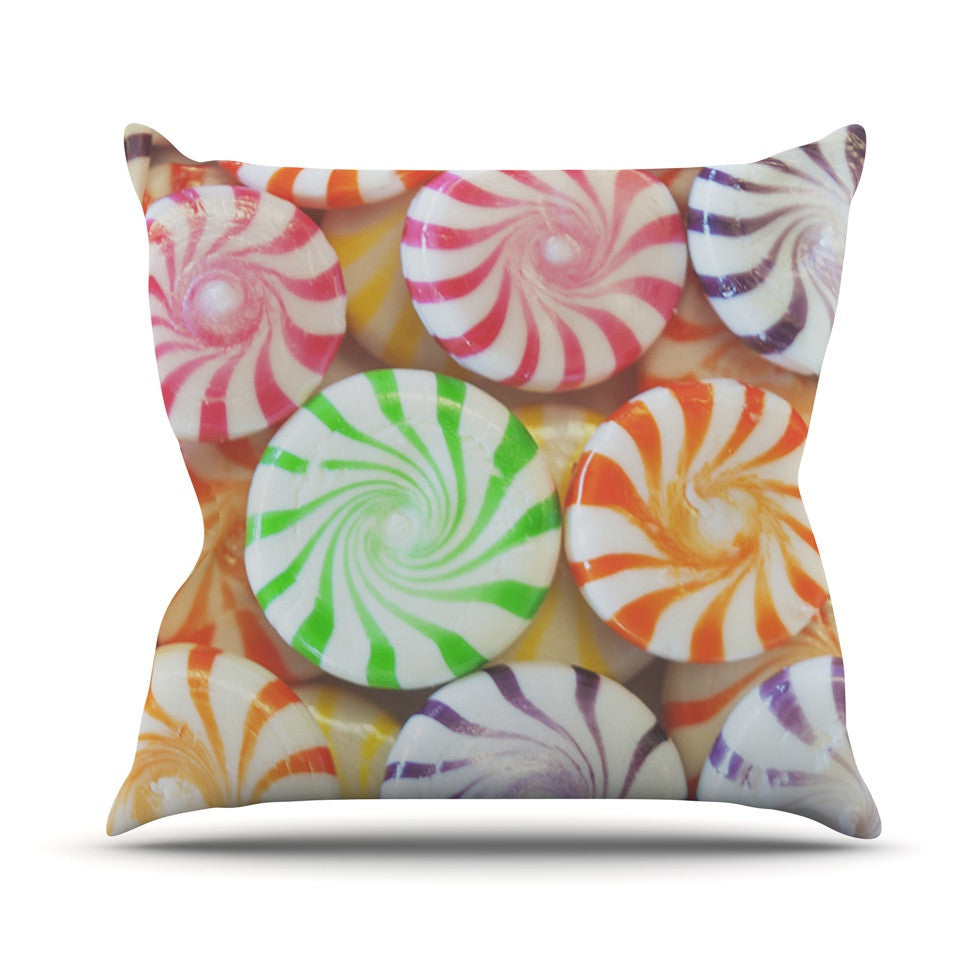 "Libertad Leal ""I Want Candy"" Outdoor Throw Pillow - KESS InHouse  - 1"