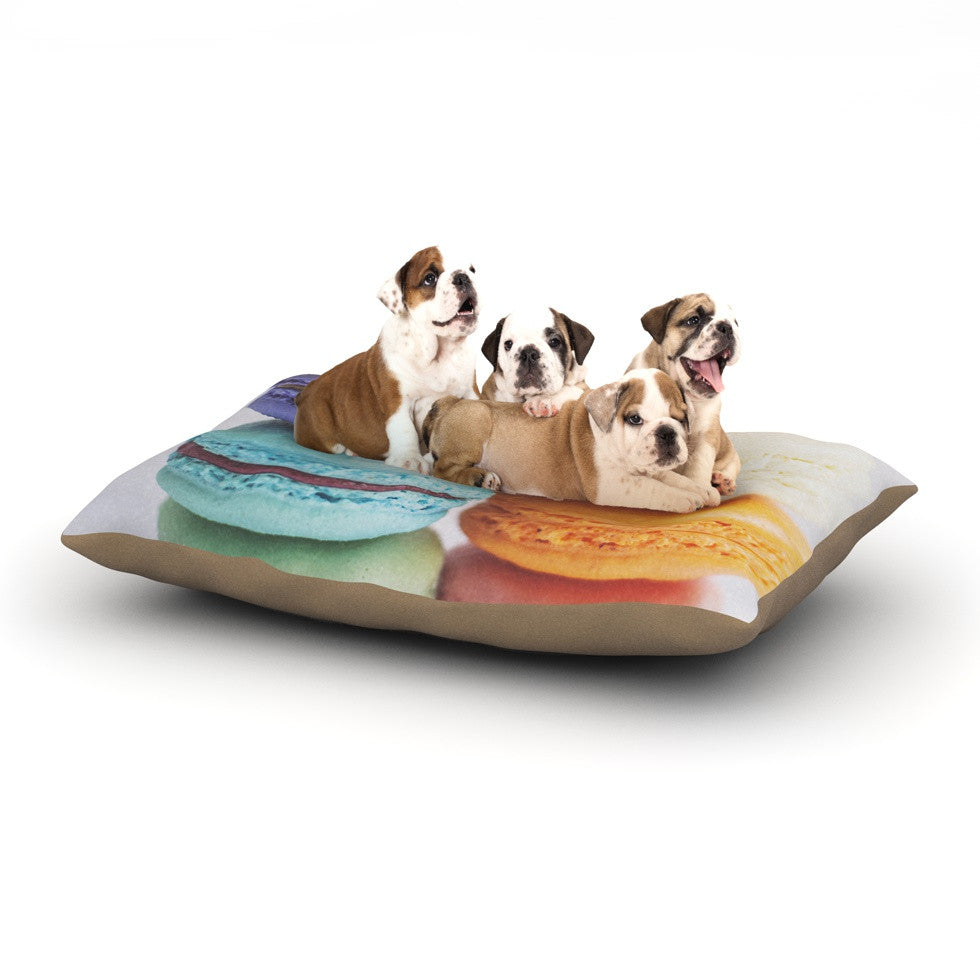 "Libertad Leal ""I Want Macaroons"" Dog Bed - KESS InHouse  - 1"