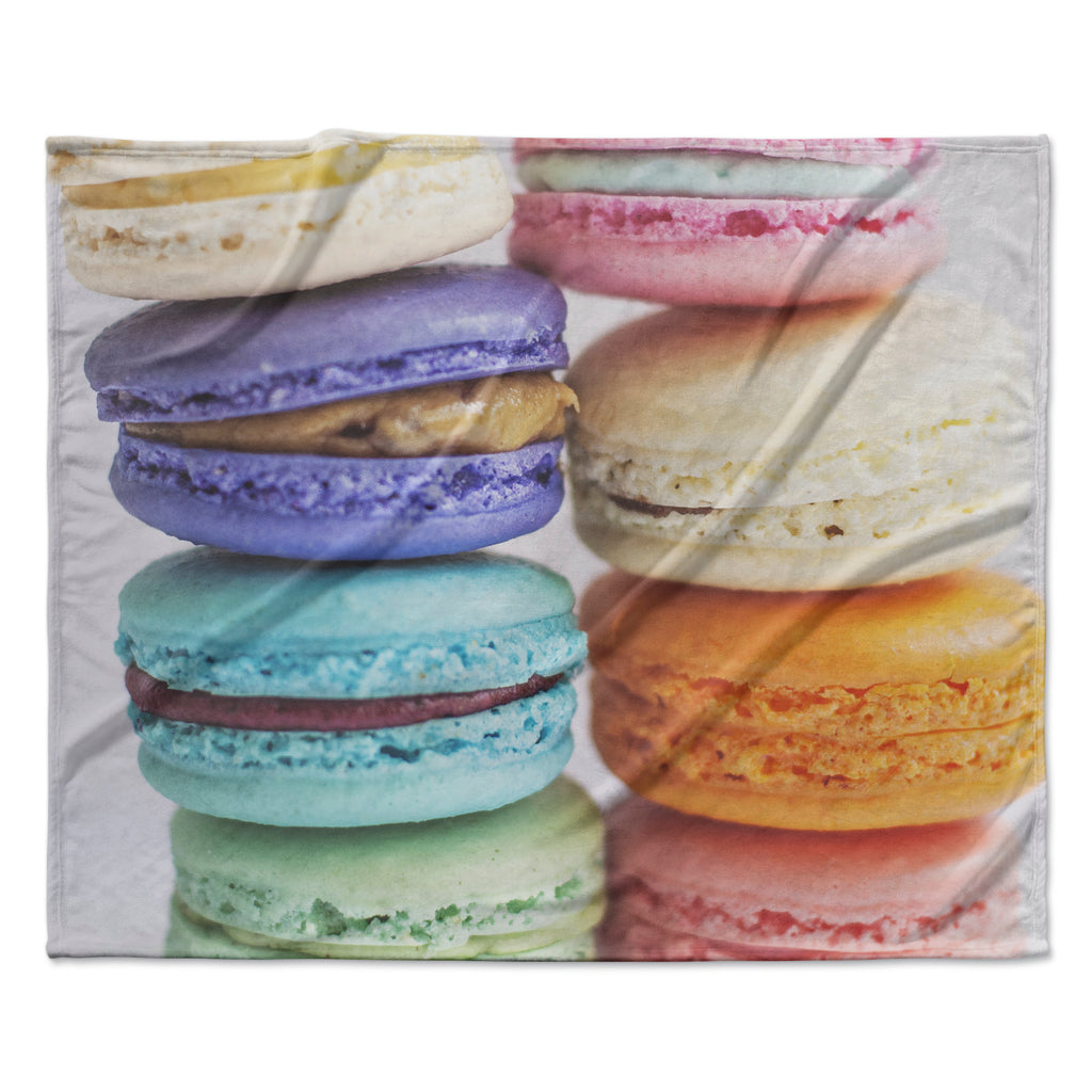 "Libertad Leal ""I Want Macaroons"" Fleece Throw Blanket"