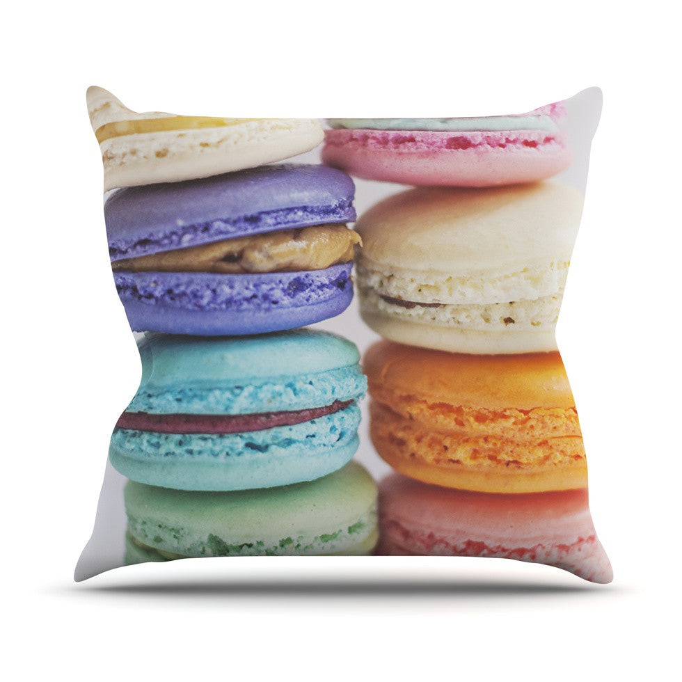"Libertad Leal ""I Want Macaroons"" Outdoor Throw Pillow - KESS InHouse  - 1"