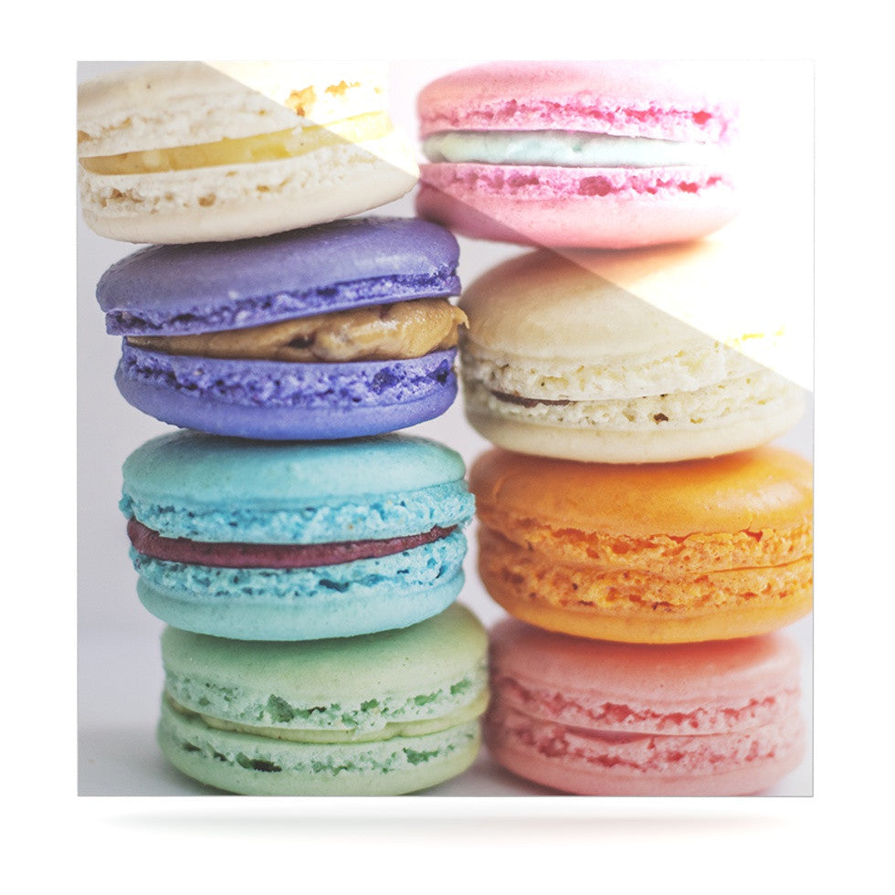 "Libertad Leal ""I Want Macaroons"" Luxe Square Panel - KESS InHouse  - 1"
