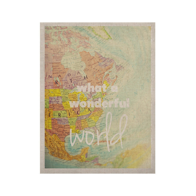 "Libertad Leal ""What a Wonderful World"" Map KESS Naturals Canvas (Frame not Included) - KESS InHouse  - 1"