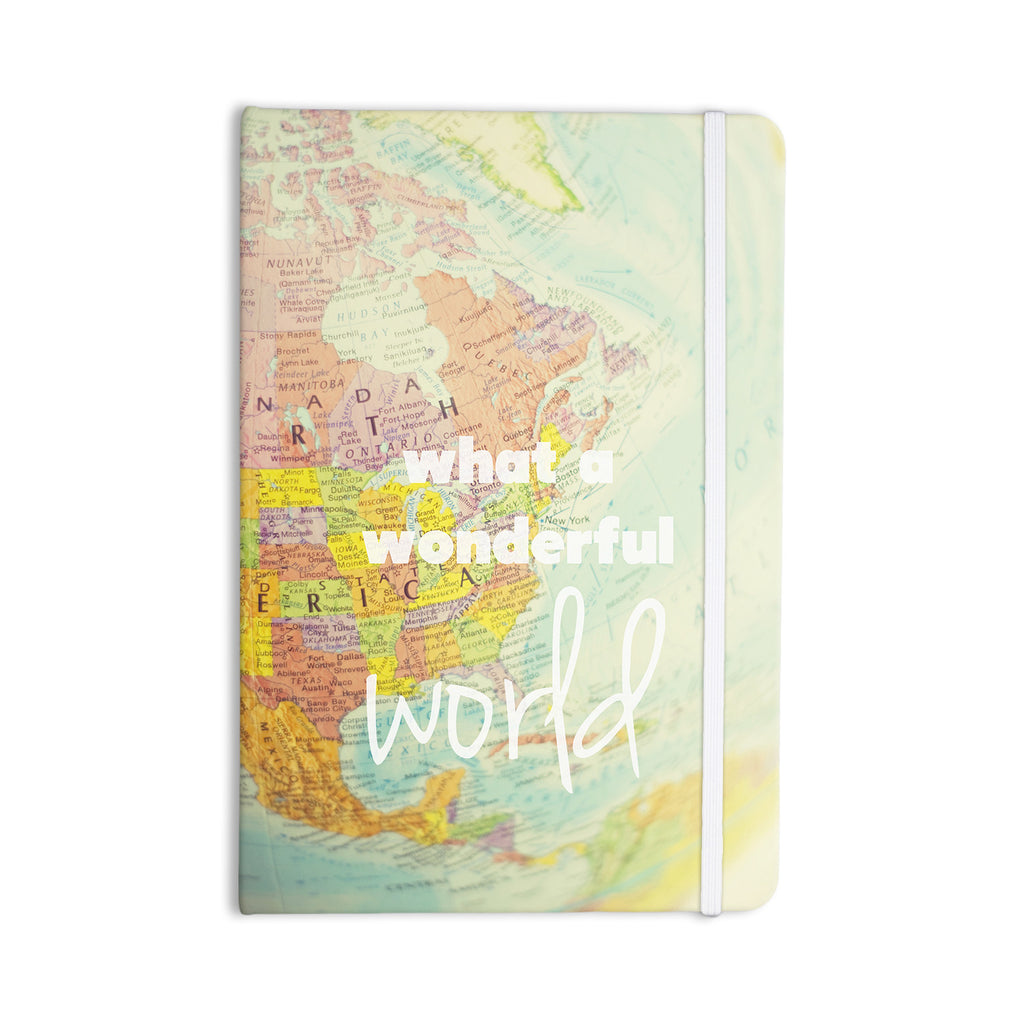 "Libertad Leal ""What a Wonderful World"" Map Everything Notebook - KESS InHouse  - 1"