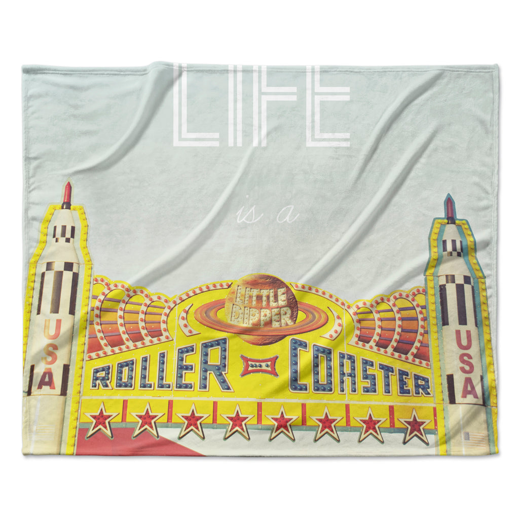 "Libertad Leal ""Life is a Rollercoaster"" Fleece Throw Blanket"