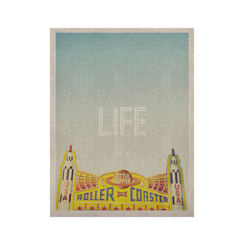 "Libertad Leal ""Life is a Rollercoaster"" KESS Naturals Canvas (Frame not Included) - KESS InHouse  - 1"
